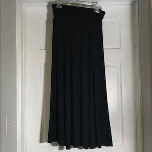 Gap Black Long Skirt w/ Roll Waistband